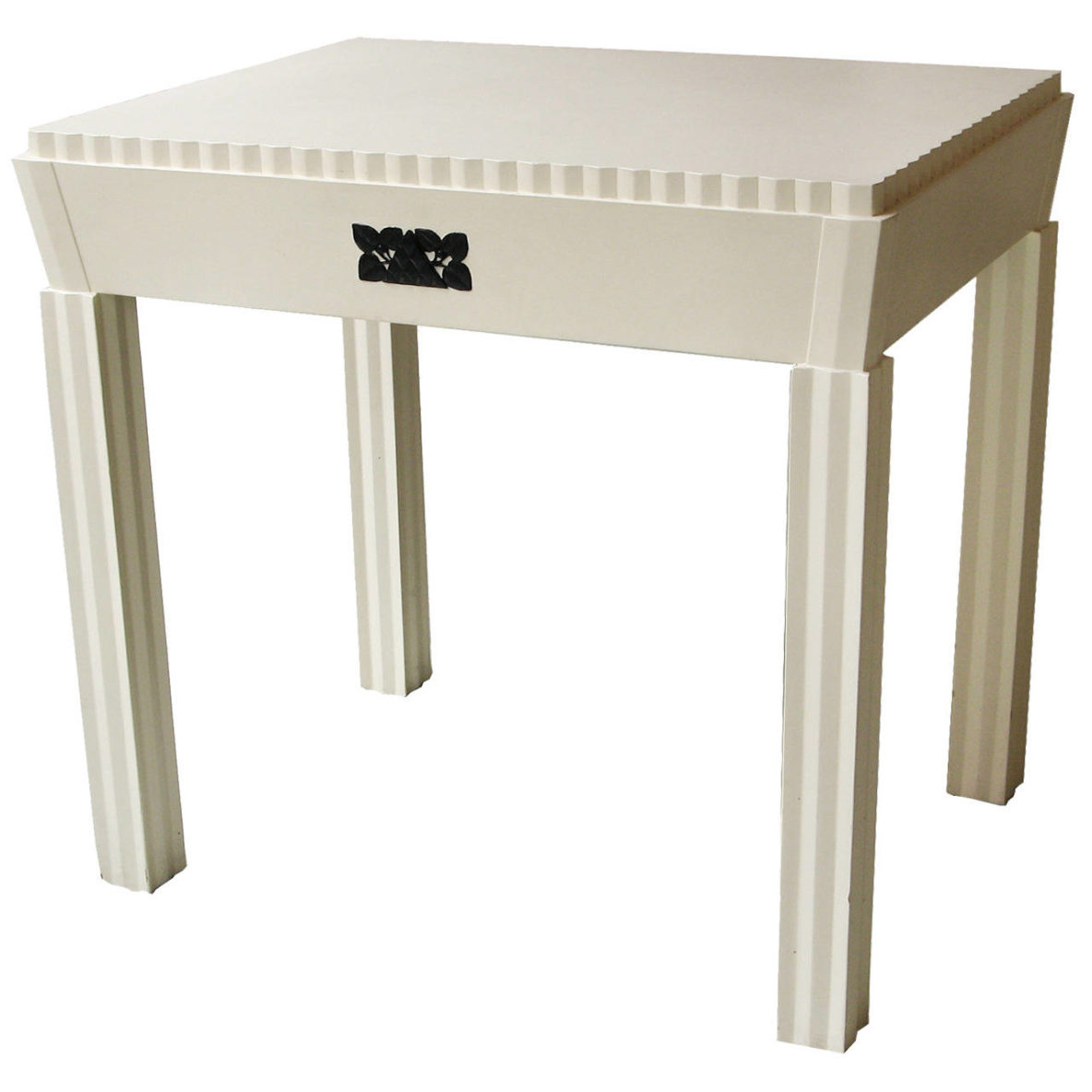 Vienna Secession White Lacquered Desk Attributed To Josef