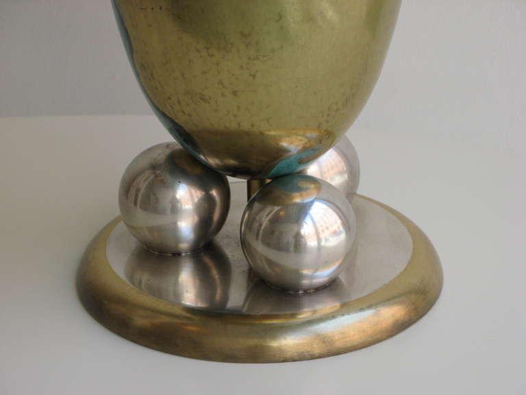 wmf grand scale metal vase with art deco design circa 1938 kimcherova. Black Bedroom Furniture Sets. Home Design Ideas